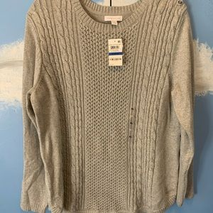Charter Club Grey Knit Sweater (NWT)